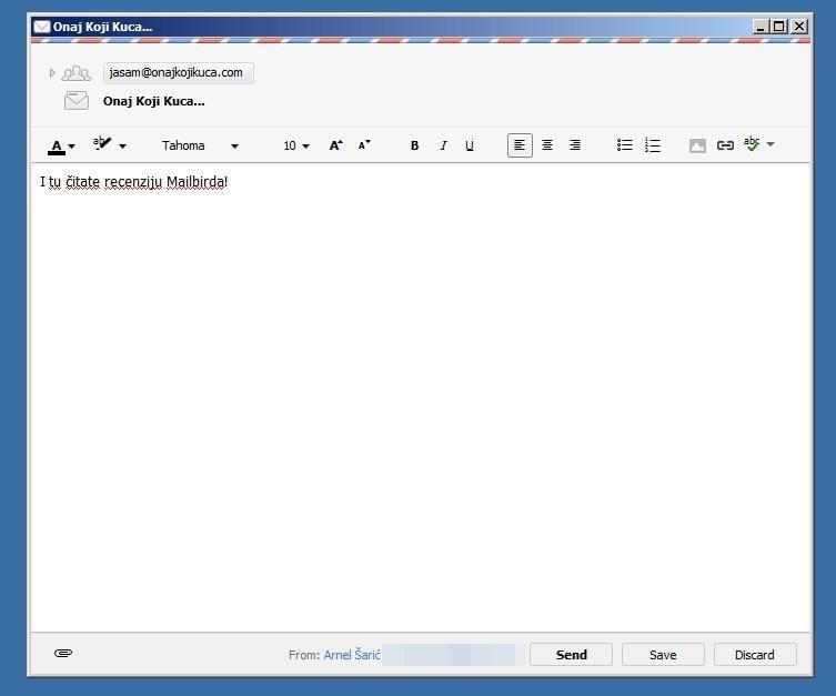 Ctrl+Alt+Space u bilo kojem trenutku otvara super brzi prozor za super brzo slanje pošte
